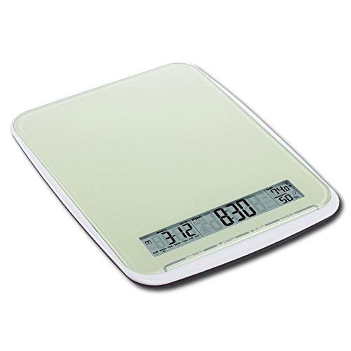 Balance de cuisine multifonction avec surface xL-poids: 10 kg-touchbedienfeld, vert menthe