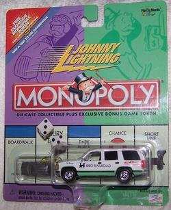 Johnny Lightning 2000 Monopoly B&O Railroad Chevy Tahoe Truck