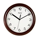Safal Wooden Wall Clock (23cm x 23cm, Brown)