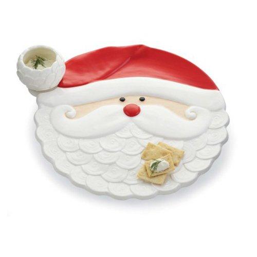Mud Pie Christmas Santa Claus Holiday Chip 'N Dip Bowl Set front-520041