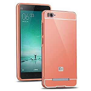 Aart Luxury Metal Bumper + Acrylic Mirror Back Cover Case For RedmiMi4i RoseGold+ Flexible Portable Mount Cradle Thumb OK Designed Stand Holder