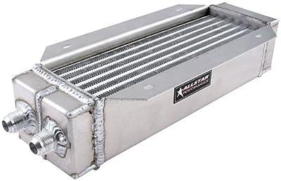 """Allstar Performance ALL30146 4"""" x 15"""" Aluminum Flange Mount Dual Pass Oil Cooler"""
