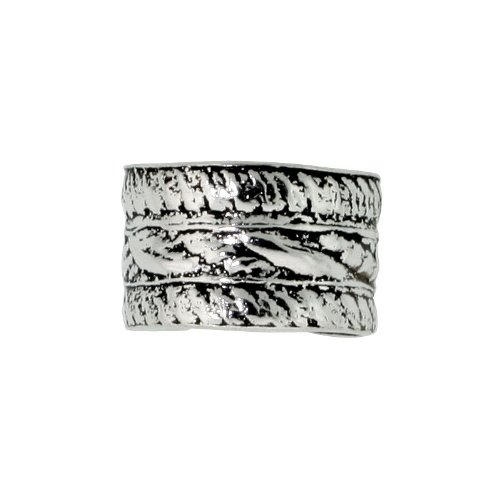 Sterling Silver Rope Edge Cuff Earring (one piece) 1/4 inch wide
