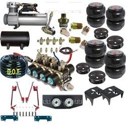 AirBagIt FBS-DOD-50-KIT5 Kit 1974-1993 Dodge Ram Charger Pickup 150 250 350 F-Bag and Brake 4Link With 0.33 Hp Small Compressor