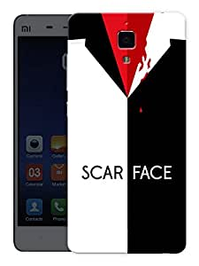 "Humor Gang Scarface Blood Printed Designer Mobile Back Cover For ""Xiaomi Redmi Mi4"" (3D, Matte, Premium Quality Snap On Case)"