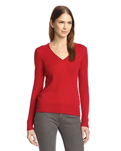 Cashmere Addiction Women's Long Sleeve V-Neck Sweater
