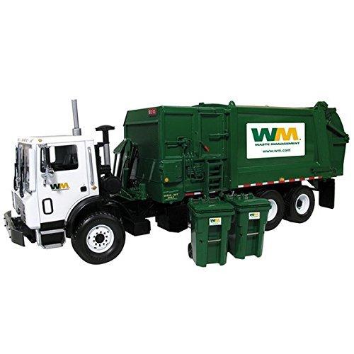 Mack TerraPro Waste Management Garbage Truck with Heil Side Load Refuse with Bin die cast model by First Gear 10-4004 (Waste Management Garbage Truck compare prices)