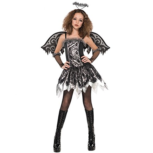 Fancy Dress - Fallen Angel Costume - GIRLS AGE 12-14 - AMS997495 - Christys