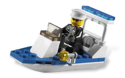 Lego City Police Boat 30-Piece Construction Toy #30002 - 1