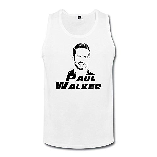 ZhaoHui Men Crew Neck Paul Walker Jersey Tank Tee Shirts XXL White