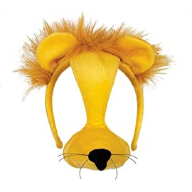 Plush Animal Mask with Sound - Lion