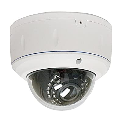 GW Security 1080P Max 5.0MP NVR Network IP Security Camera System - HD Megapixel 2.8~12mm Varifocal Zoom 80ft IR PoE IP Dome Camera - Support ONVIF P2P Quick QR Code Remote Access
