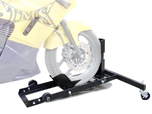 1100 lb Heavy Duty Motorcycle Wheel Chock Bike Stand Towing Truck with 4 wheels