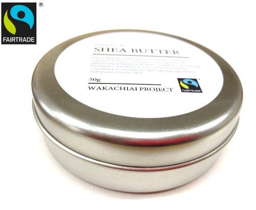 ガーナ産ピュアシアバター 未精製 50g入り Unrefined Fairtrade Shea Butter from Ghana