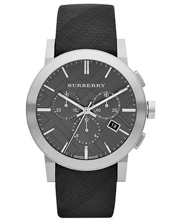 Burberry Watch, Women's Swiss Chronograph Beat Check Fabric Strap 42mm BU9359