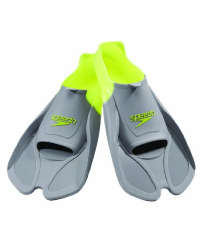 Speedo Biofuse Swim Training Fins (Grey/Yellow, X-Short)