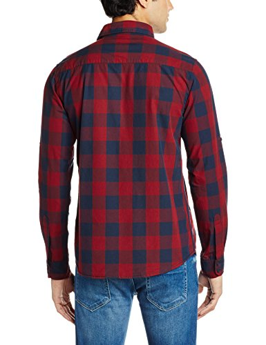 Pepe-Jeans-Mens-Casual-Shirt-8903872977765PIM0002220XX-LargeMaroon