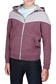 Panelled Zip Through Hooded Sweat Top [T87-4861V-S]
