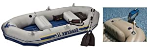 INTEX Seahawk II Inflatable Boat/Raft Set & Motor Mount Kit
