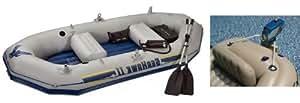 INTEX Seahawk II Inflatable Boat/Raft Set & Motor Mount Kit