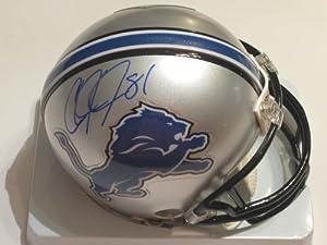Calvin Johnson Signed Autograph Detroit Lions Mini Helmet Authentic Certified Coa by Riddell