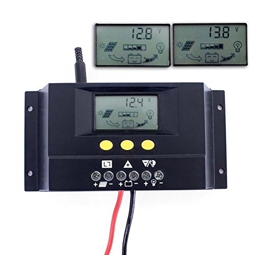 Sun YOBA 30A 12V 24V Auto Switch Solar Panel Charge Controller Solar Controller (Solar Panel Voltage Controler compare prices)