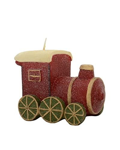 Fantastic Craft Train Candle, Red