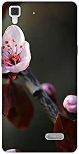 The Racoon Grip macro cherry flower hard plastic printed back case / cover for Oppo R7 Lite