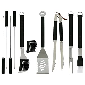 Mr. Bar-B-Q Plastic-handle Finger Grip 10-Piece Tool Set (Discontinued by Manufacturer)