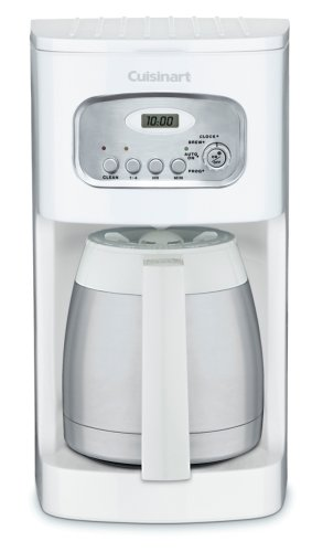 Cuisinart DCC-1150WH 10-Cup Programmable Thermal Coffeemaker, White