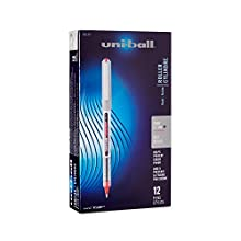 Uni-Ball Vision Stick Rollerball Pens, Fine Point, Red Ink, Pack of 12 (60139)