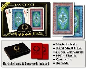 Da Vinci Sienna - Italian 100% Plastic Playing Cards