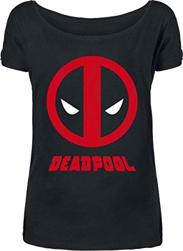 Deadpool Logo Maglia donna nero M