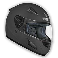 Vega X888 Full Face Helmet (Flat Black, X-Large) from Vega