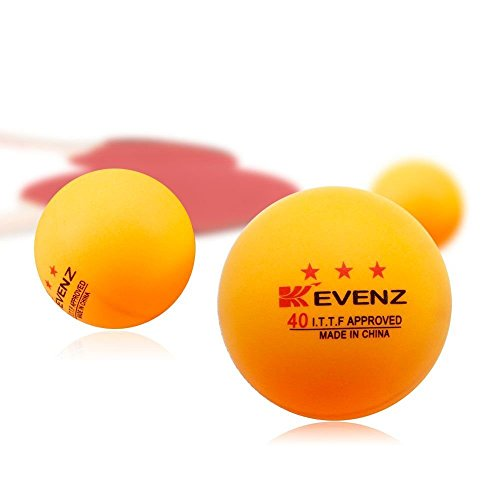 100 pack kevenz 3 star 40mm table tennis balls orang