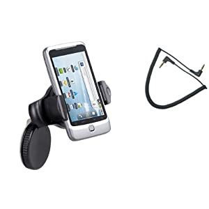 Fonus UNIVERSAL Expandable 360 degrees Rotatable Car Windshield Mini Holder Swivel Window and Dash Mount Stand for AT&T Nokia Lumia 900 (Auxiliary Cable is included)