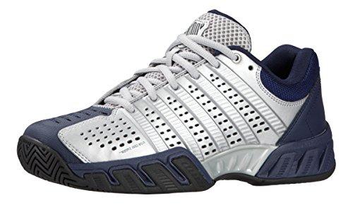 K-Swiss Men's Bigshot Light 2.5 Tennis Shoe (Silver/Navy/Black) 10 D(M) US)