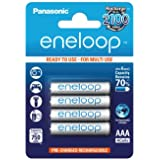 Panasonic eneloop AAA Ready-to-Use Micro NI-MH Akku BK-4MCCE/4BE (750 mAh, 4er Pack) -