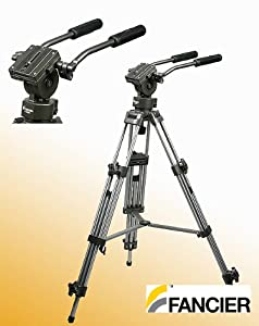 Professional 75mm Video Camera Tripod with Fluid Drag Head FT9901
