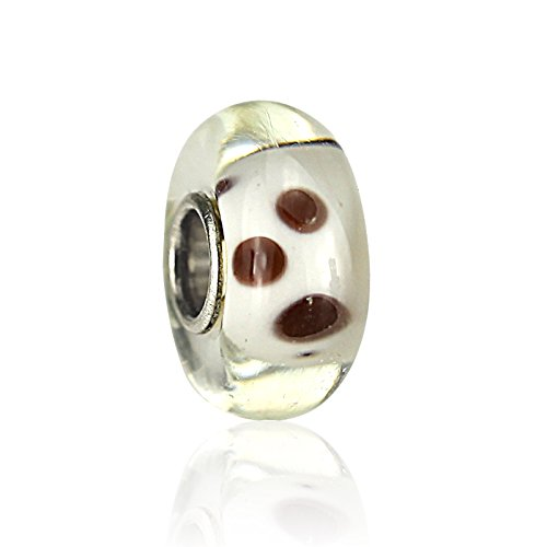 2pcs Duchy Murano Glass Beads Brown Leo Pard Hand Made Fashion Compitable with Pandora Chamilia Troll Biagi Charm Bracelets DIY for women