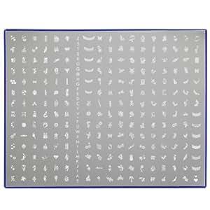 Stamping Nail Art Kit / Set accessoire pour manucure / pedicure pour déco d'ongles par Cheeky: super plaque (A) d'images comportant 267 pochoirs. Rapport prix / quantité imbattable!
