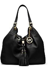 Michael Kors Large Camden Drawstring Leather Shoulder Bag
