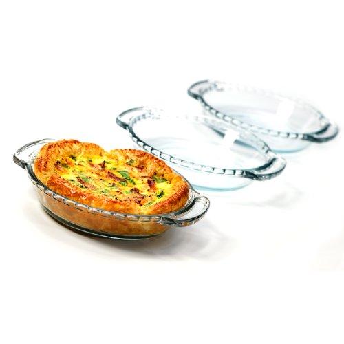 Anchor Hocking Oven Basics Mini Glass Pie Plate, Set of 3 (Anchor Hocking 6 Inch Pie Plate compare prices)
