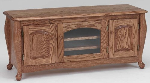 Buy Low Price #1078 Solid Wood TV Stand Oak Queen Anne LCD Plasma TV Stand (B003AJ7SLM)