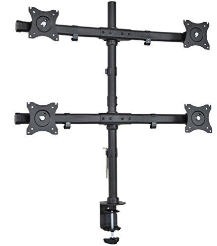 Vivo Quad Monitor Heavy Duty Desk Mount Adjustable Stand