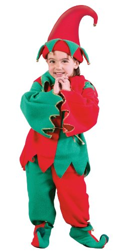 Fun World Toddler Boys Girls Santa Elf North Pole Christmas Costume