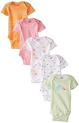 Gerber Baby-Girls Newborn Bird 5 Pack Onesies, Bird, 6-9 Months