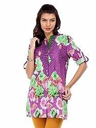 Miraaya Women's Tunic (M2580A_99116_Purple_X-Small)