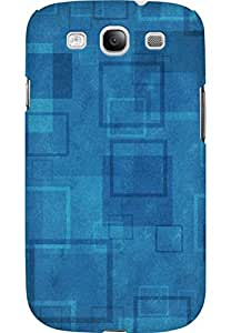 AMEZ designer printed 3d premium high quality back case cover for Samsung Galaxy S3 I9300 (simple squares)
