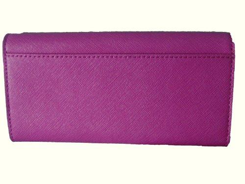 MICHAEL Michael KorsMichael Kors Kiera Fuschia Flat Saffiano Leather Wallet